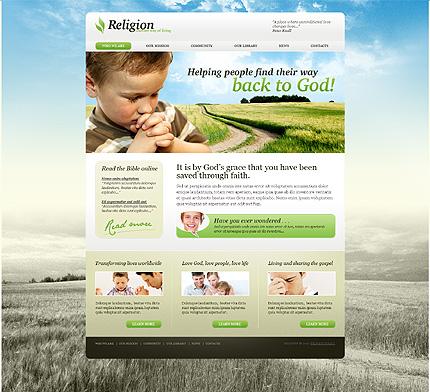Заказ создания сайта или интернет магазина на тему Религия, на основании шаблона №26563.