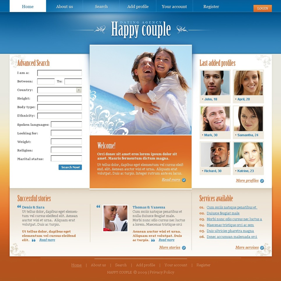 dating website themes Webbuildersguide » website builder categories » best dating website builders and themes for dating sites best dating website builders and themes for dating sites to turn out online dating from enjoyable pastime into a profitable business first of all you need to have professional dating service website.