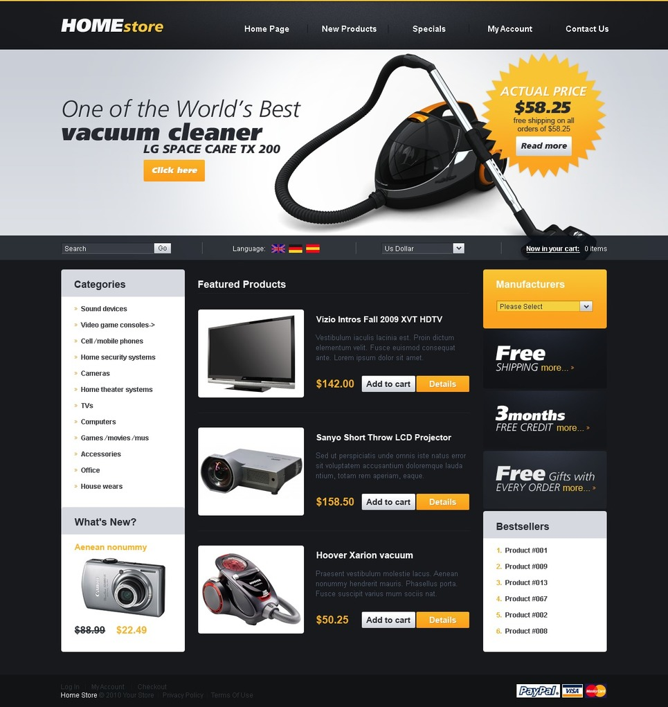Magic Black Theme for your Store
