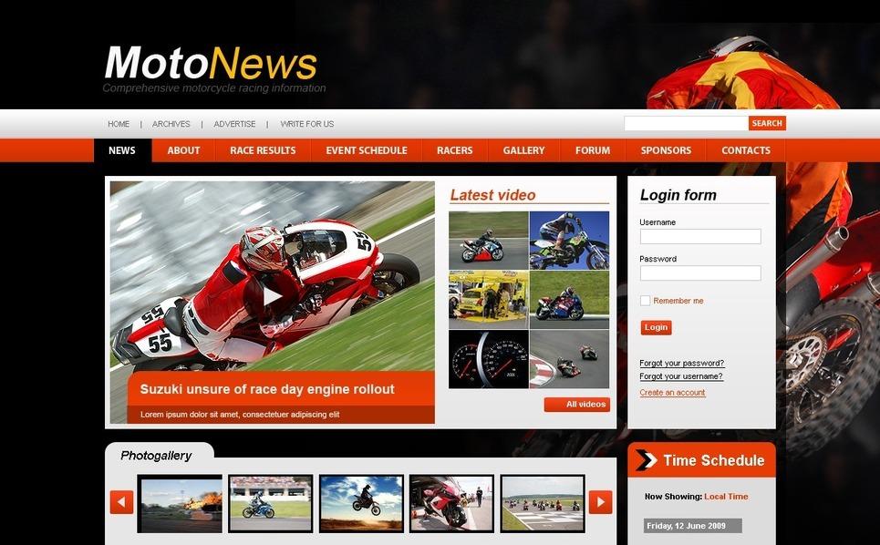 Motor Sports Joomla Template New Screenshots BIG