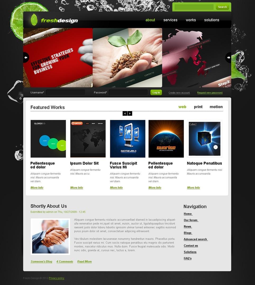 Design Studio Drupal Template New Screenshots BIG