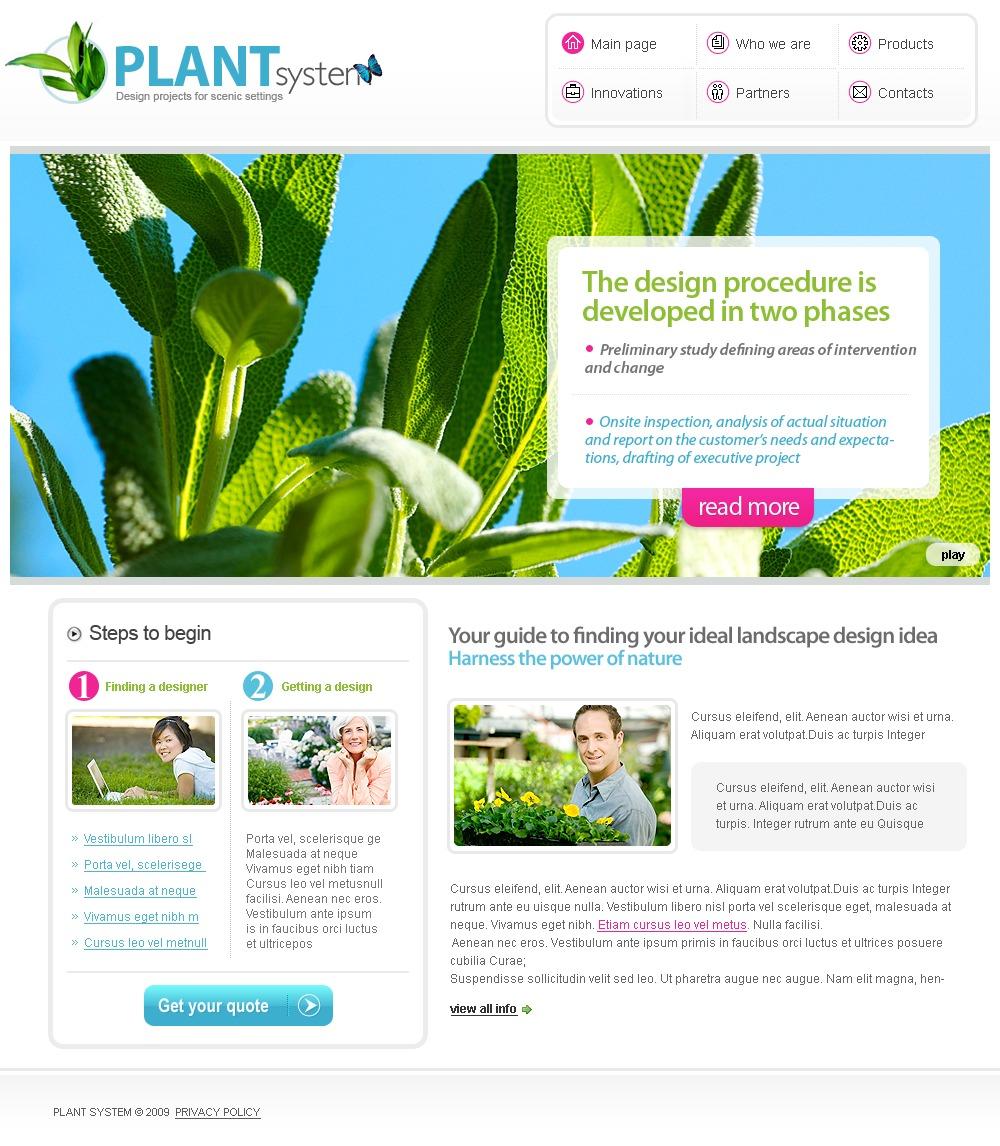 Garden Design Website Template 26809