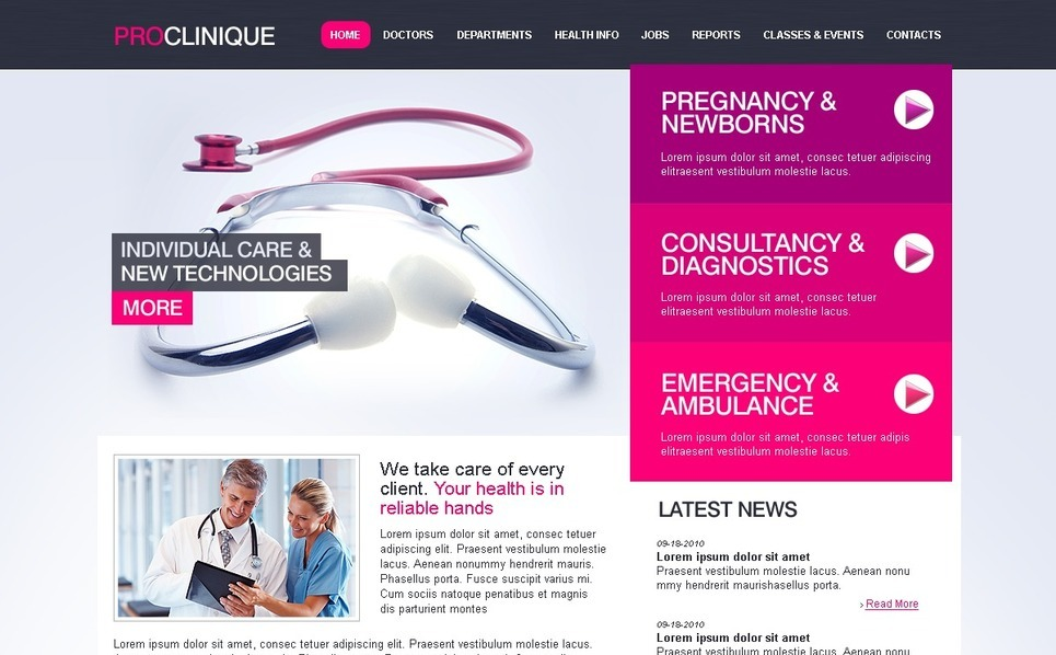 Medical Website Template New Screenshots BIG