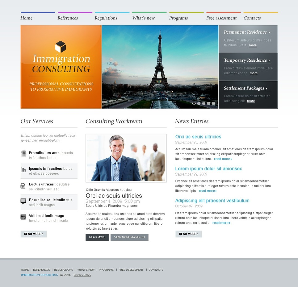 It Consulting Website Templates - Business Advisor | Business Advisor