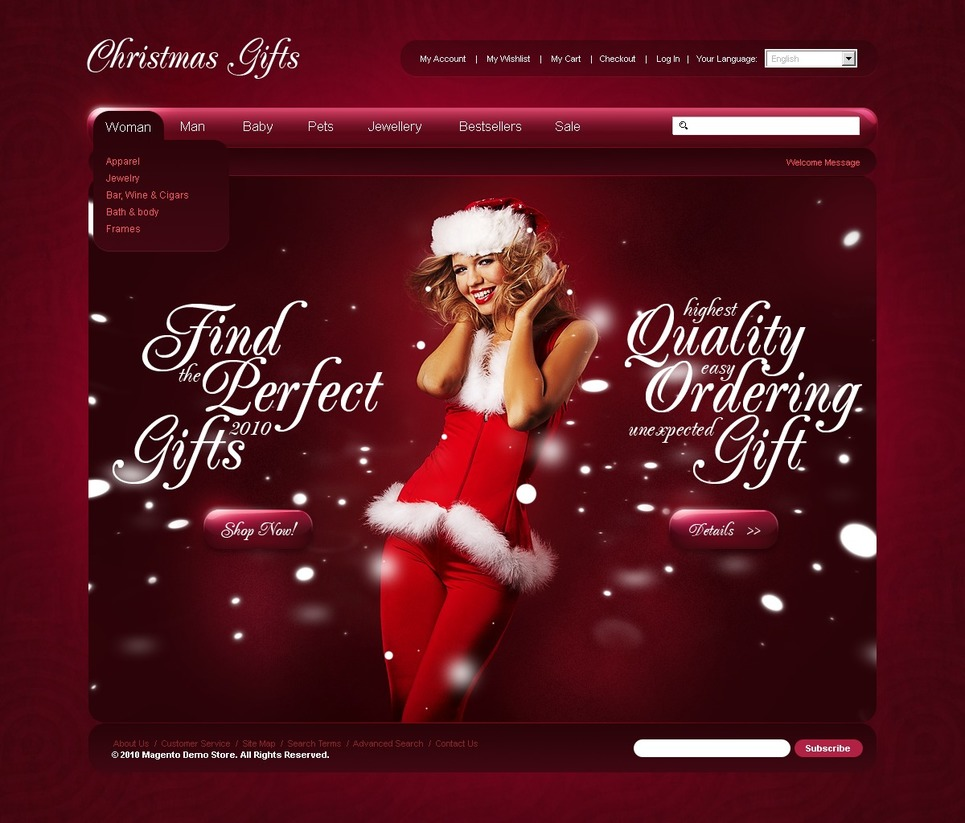 Christmas Magento Theme New Screenshots BIG