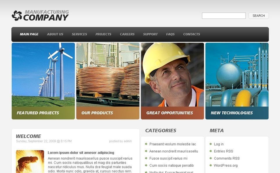 Industrial WordPress Theme New Screenshots BIG
