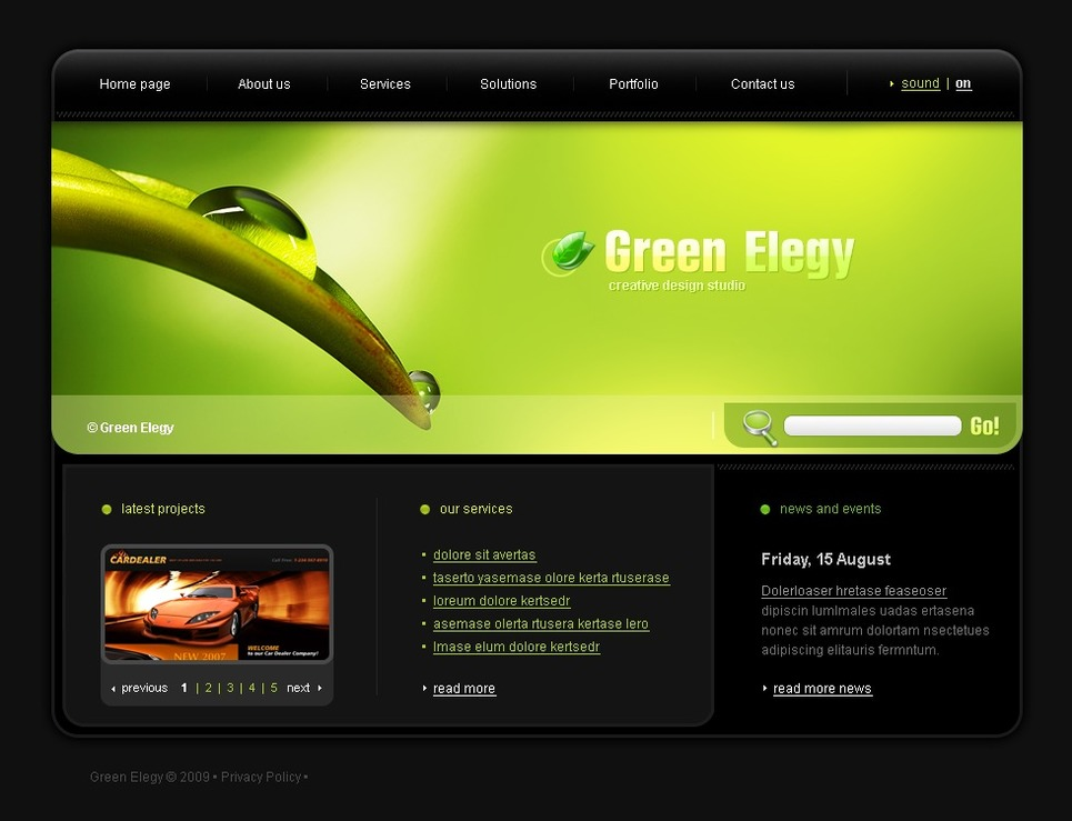 Web Design Flash Template New Screenshots BIG