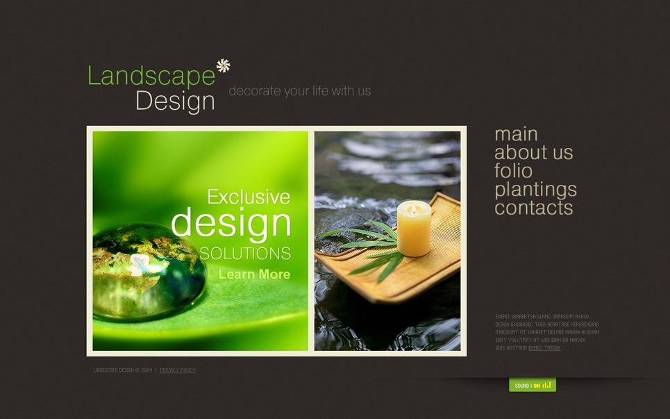 Landscape design flash template 27041 for Garden design questions