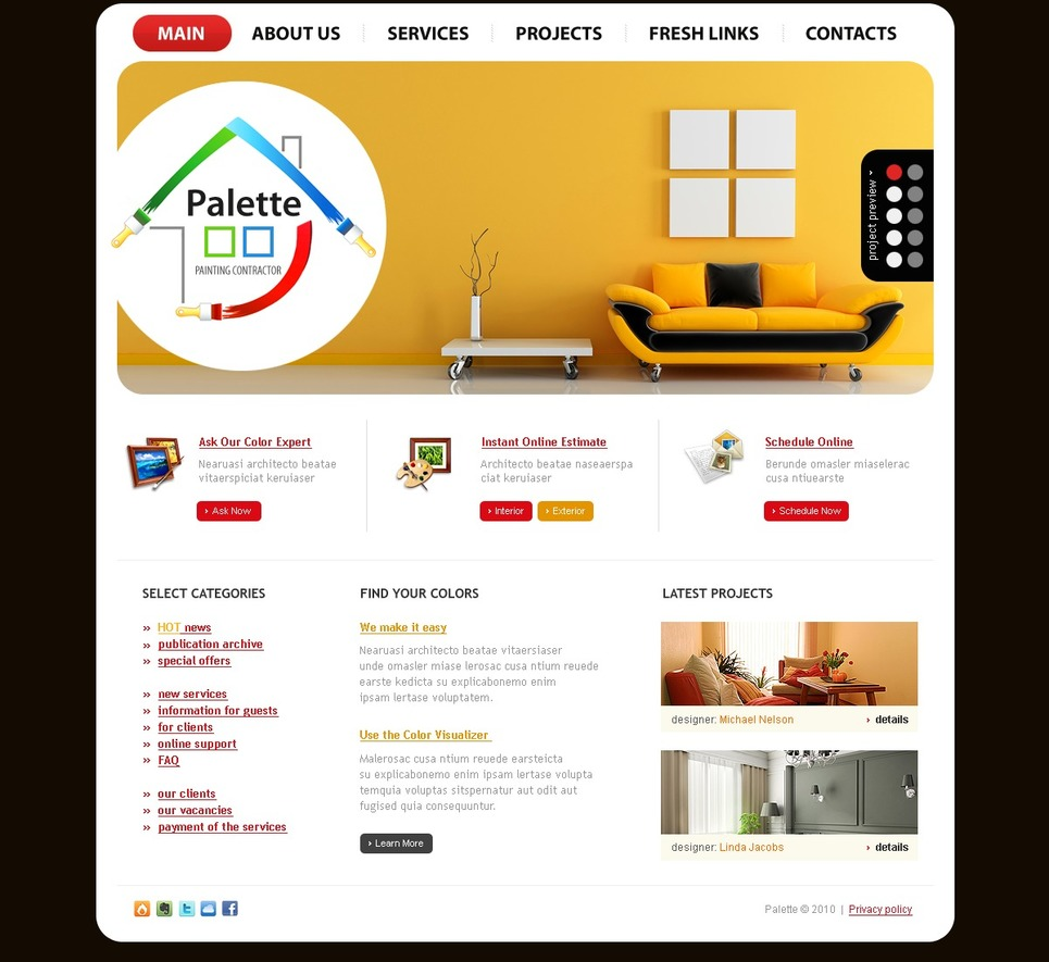 Painting Company Website Template 27061