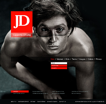 JD T-shirts store - Effective T-shirts Store Magento Theme
