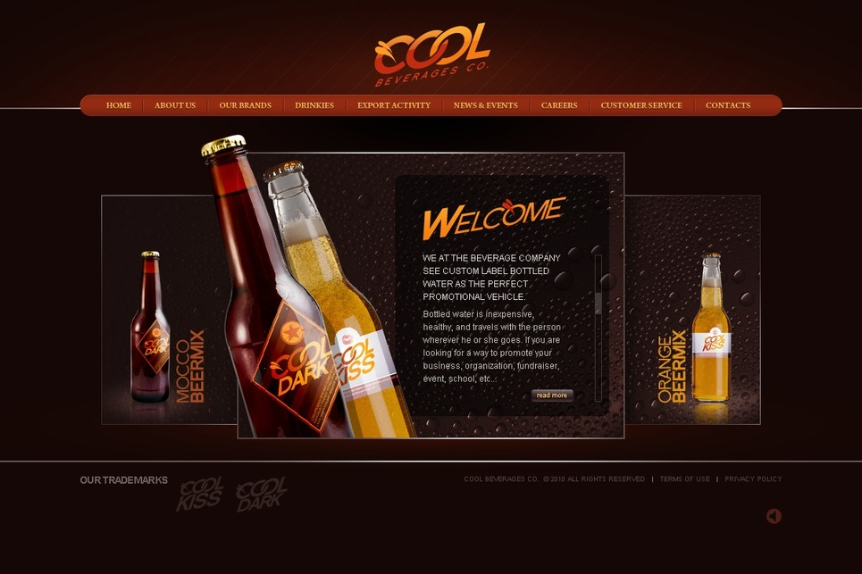 Food & Drink Flash Template New Screenshots BIG