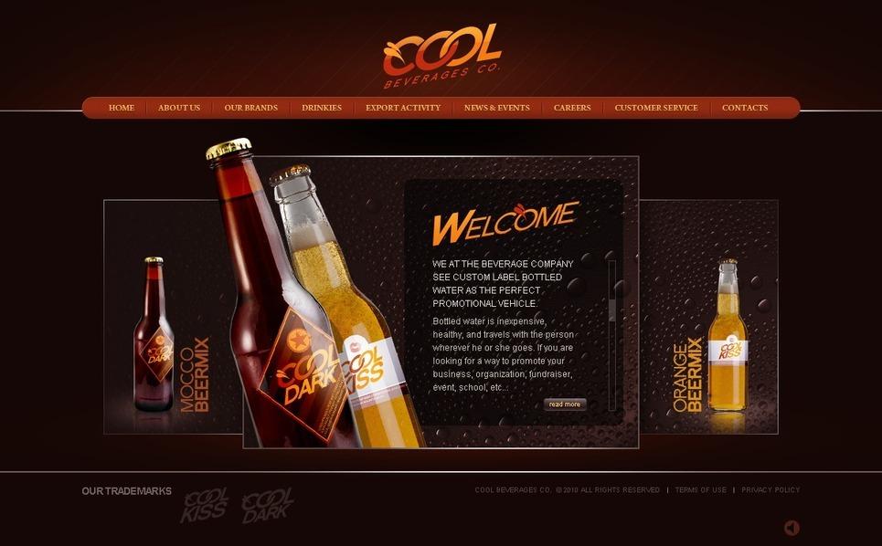 Food & Drink Flash Template New Screenshots BIG