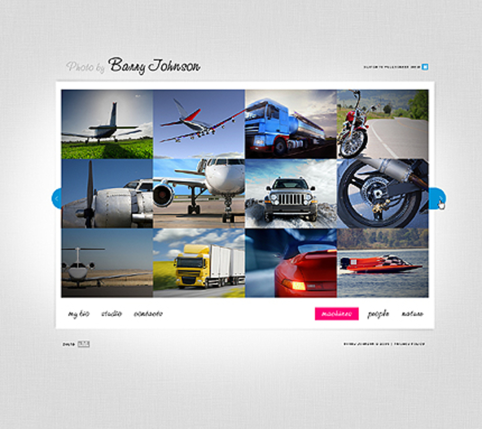 Flash CMS Template for a Photo Portfolio - image