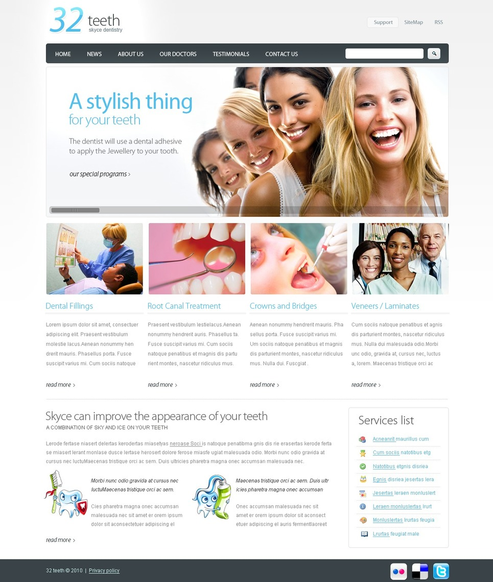 Dentistry Website Template New Screenshots BIG