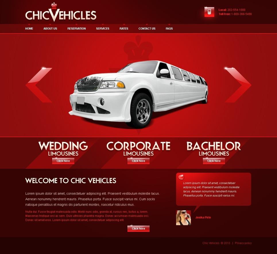 limousine services website template 27297. Black Bedroom Furniture Sets. Home Design Ideas