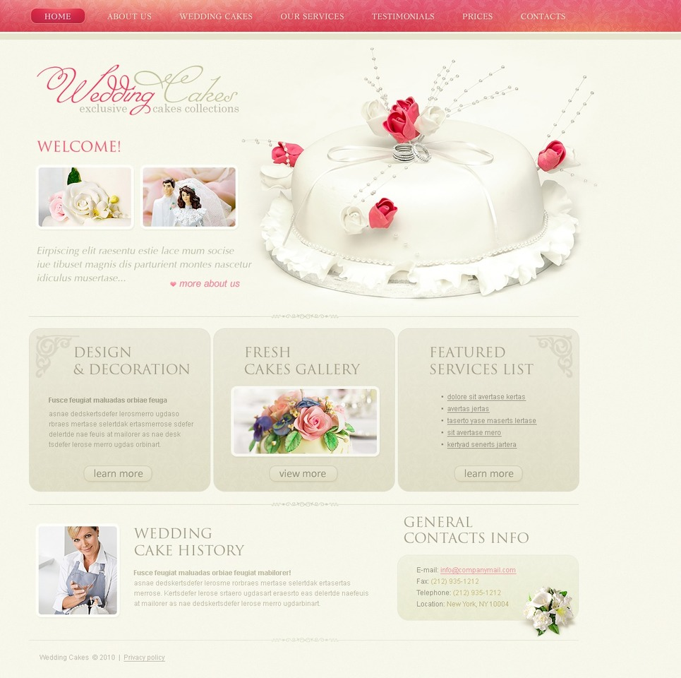 wedding cake website template web design templates website templates download wedding cake. Black Bedroom Furniture Sets. Home Design Ideas
