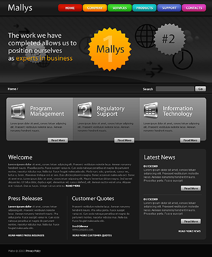 Website Template #27356