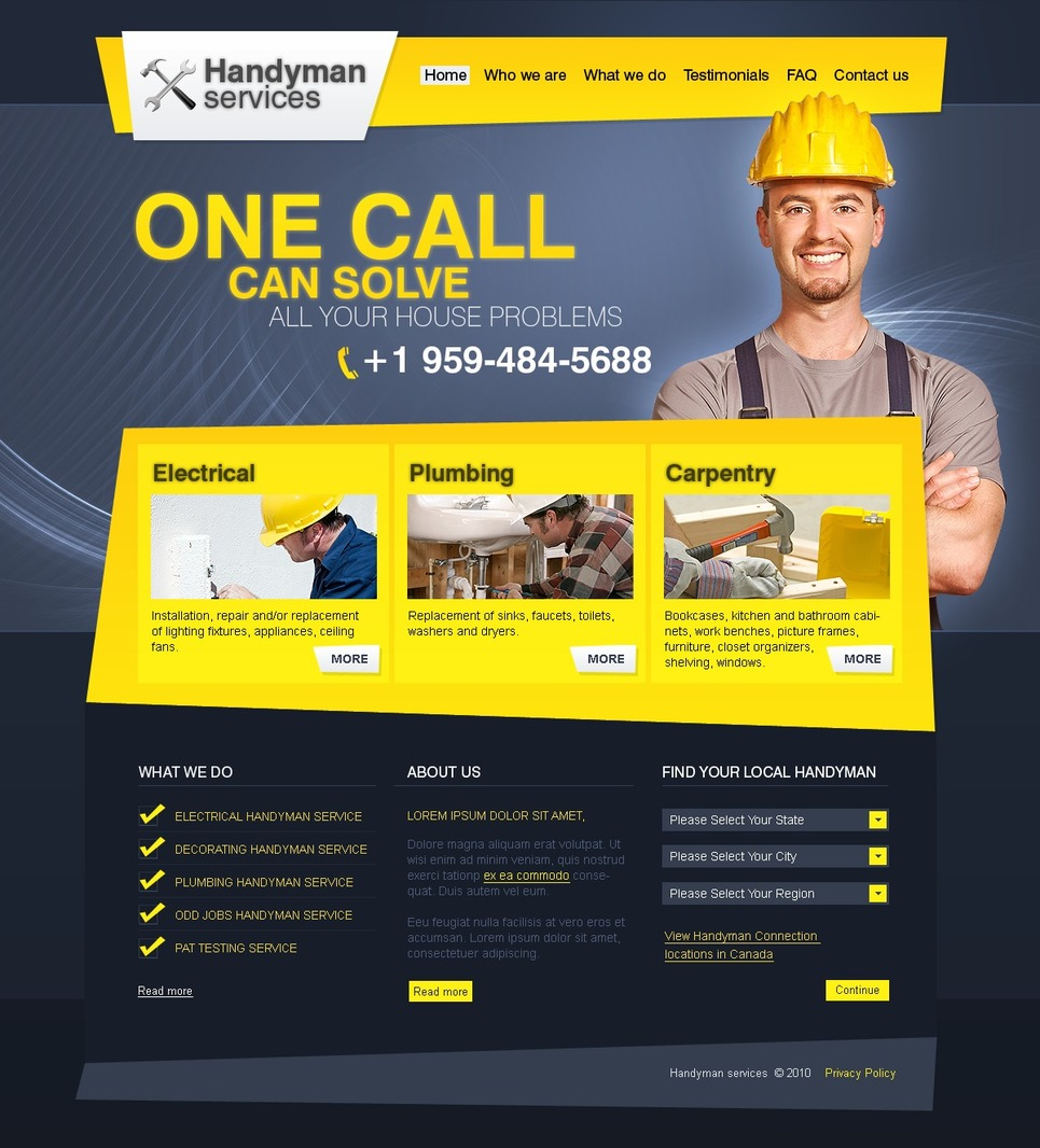 Image Gallery Handyman Template