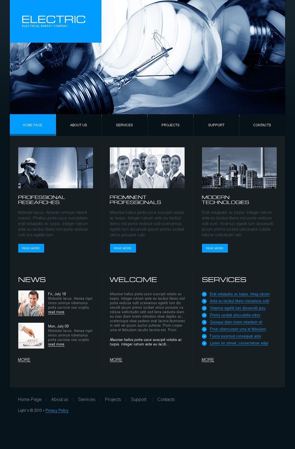 Lighting & Electricity Website Template New Screenshots BIG