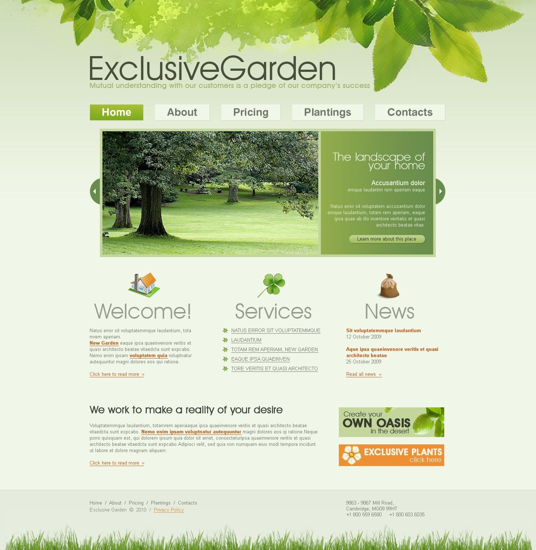 Garden design website template 27430 for Garden design questions