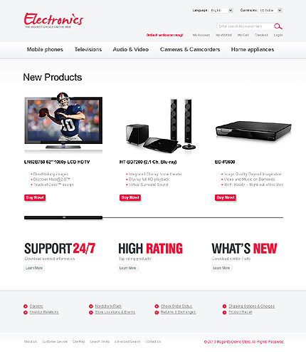 Electronics store - Best Electronic Store Magento Theme