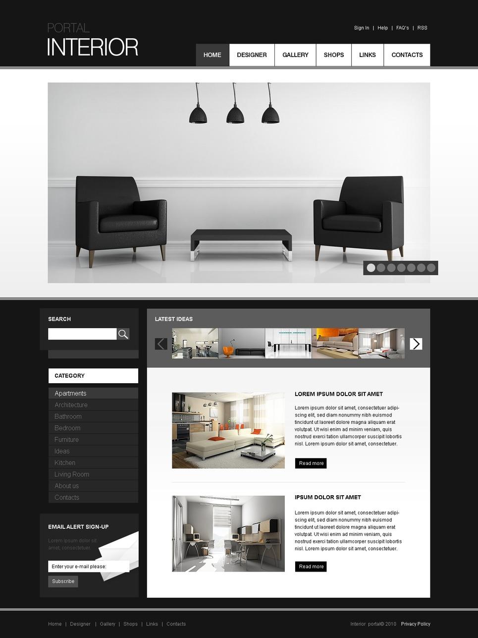Дизайны сайтов joomla