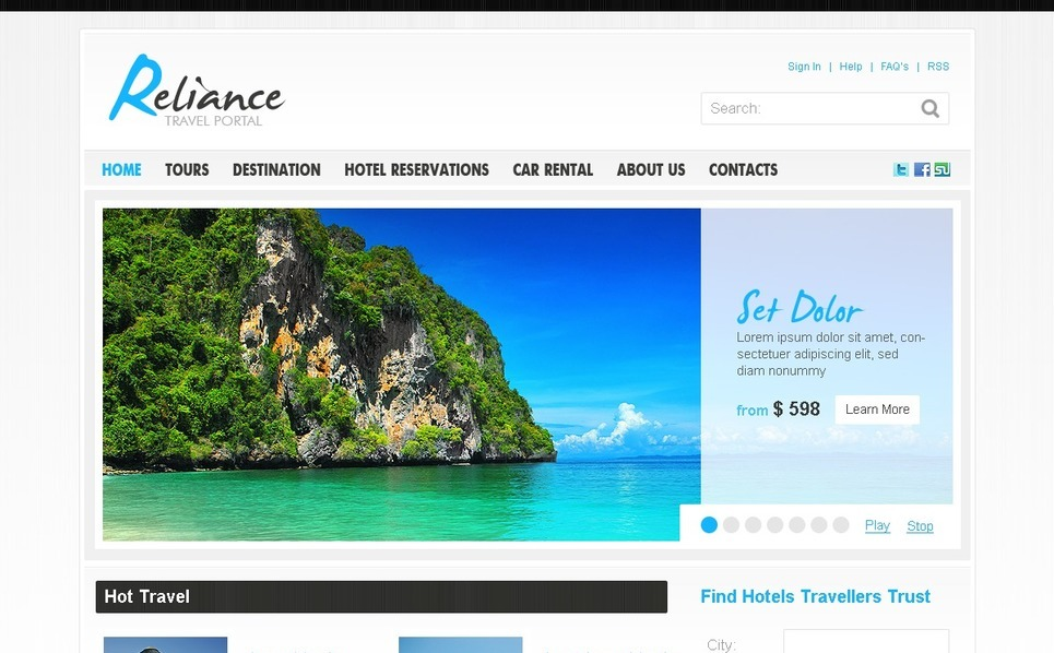 Travel Guide Joomla Template New Screenshots BIG