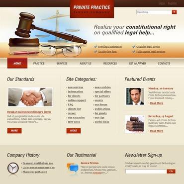 advocate website template