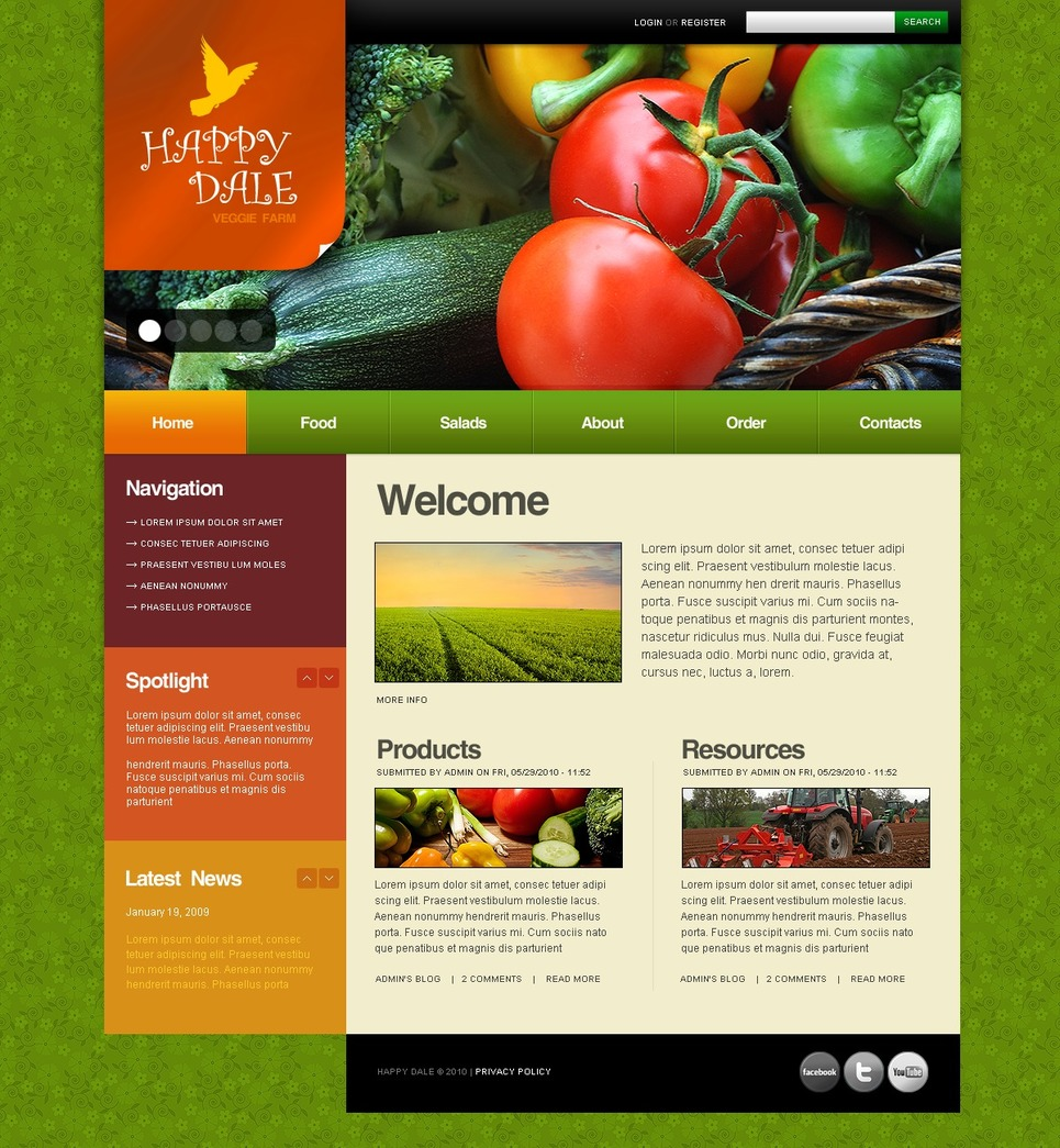 Farm Drupal Template New Screenshots BIG