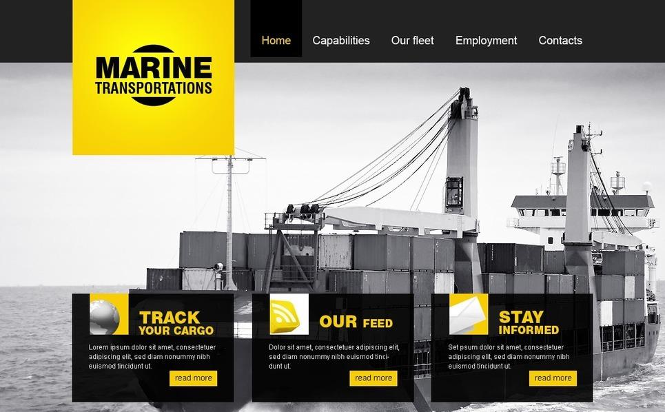 Maritime Website Template New Screenshots BIG