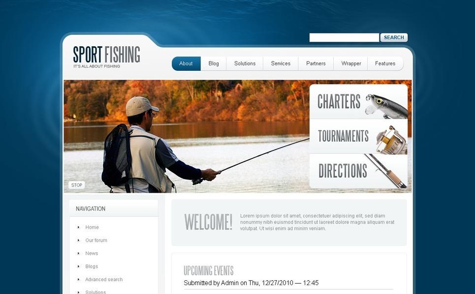 Fishing Drupal Template New Screenshots BIG