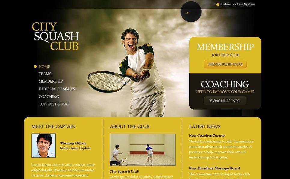 Squash Website Template New Screenshots BIG
