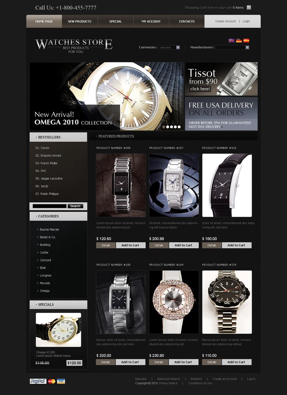 Dashing Black OSCommerce Design