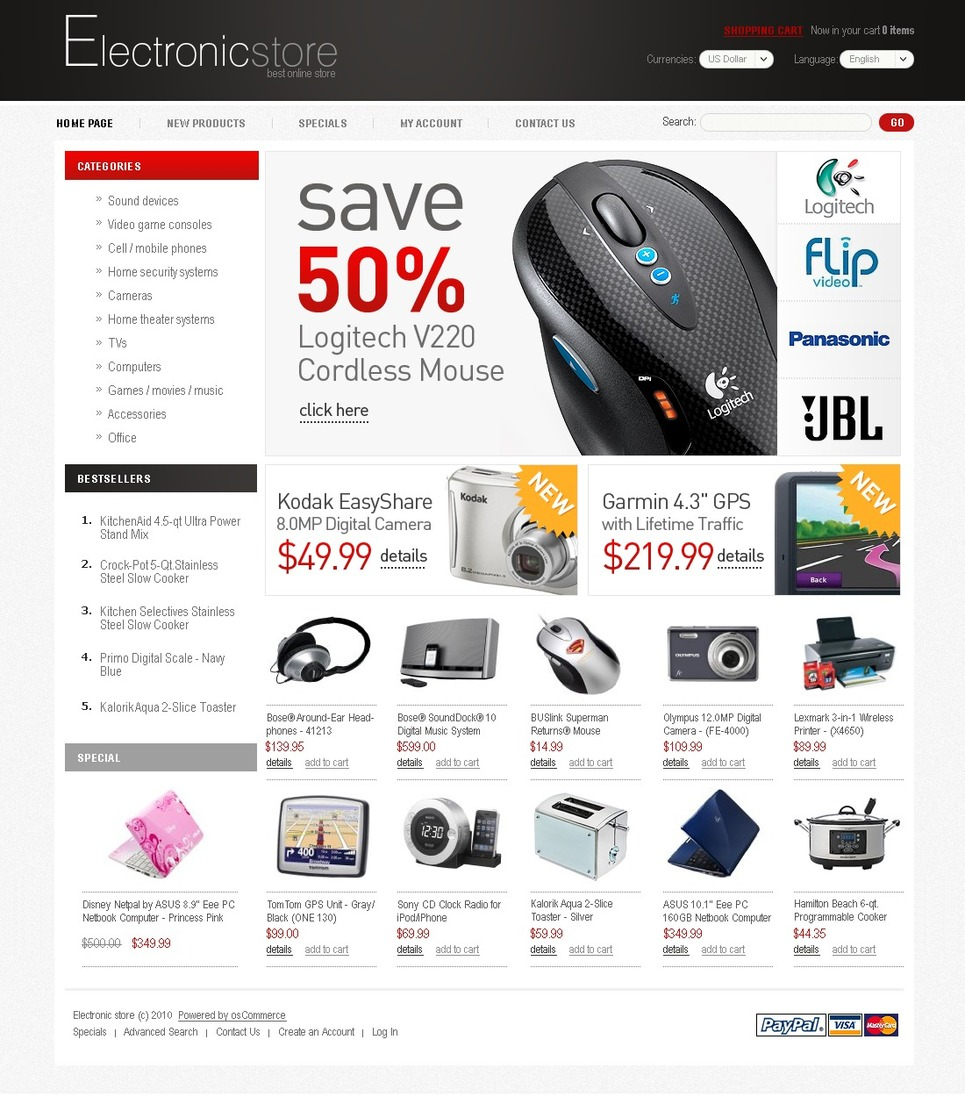 Classic Style Coated OSCommerce Template