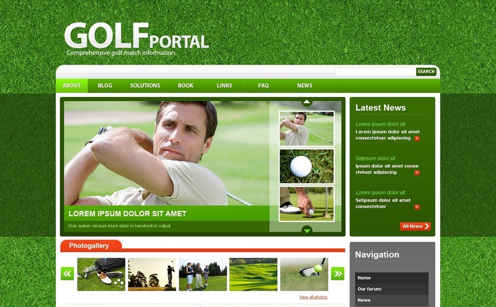 Golf Drupal Template New Screenshots BIG