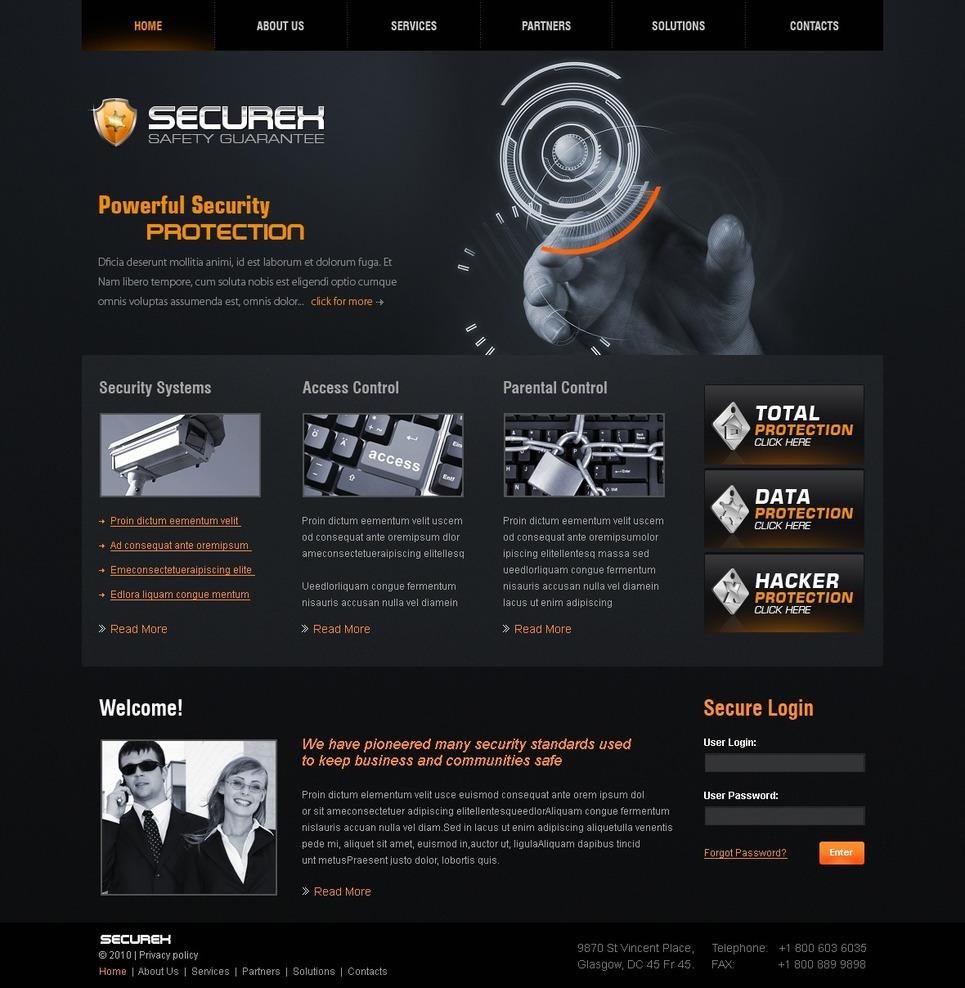 Security Website Template 28047
