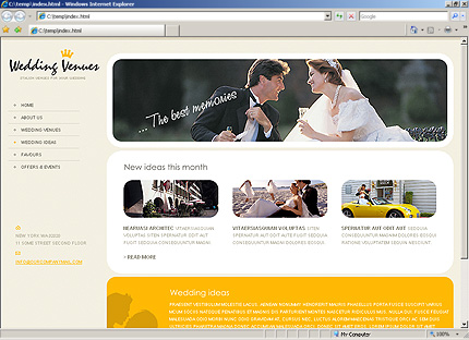 Website Templates Template 28059 wedding venues place venue event party