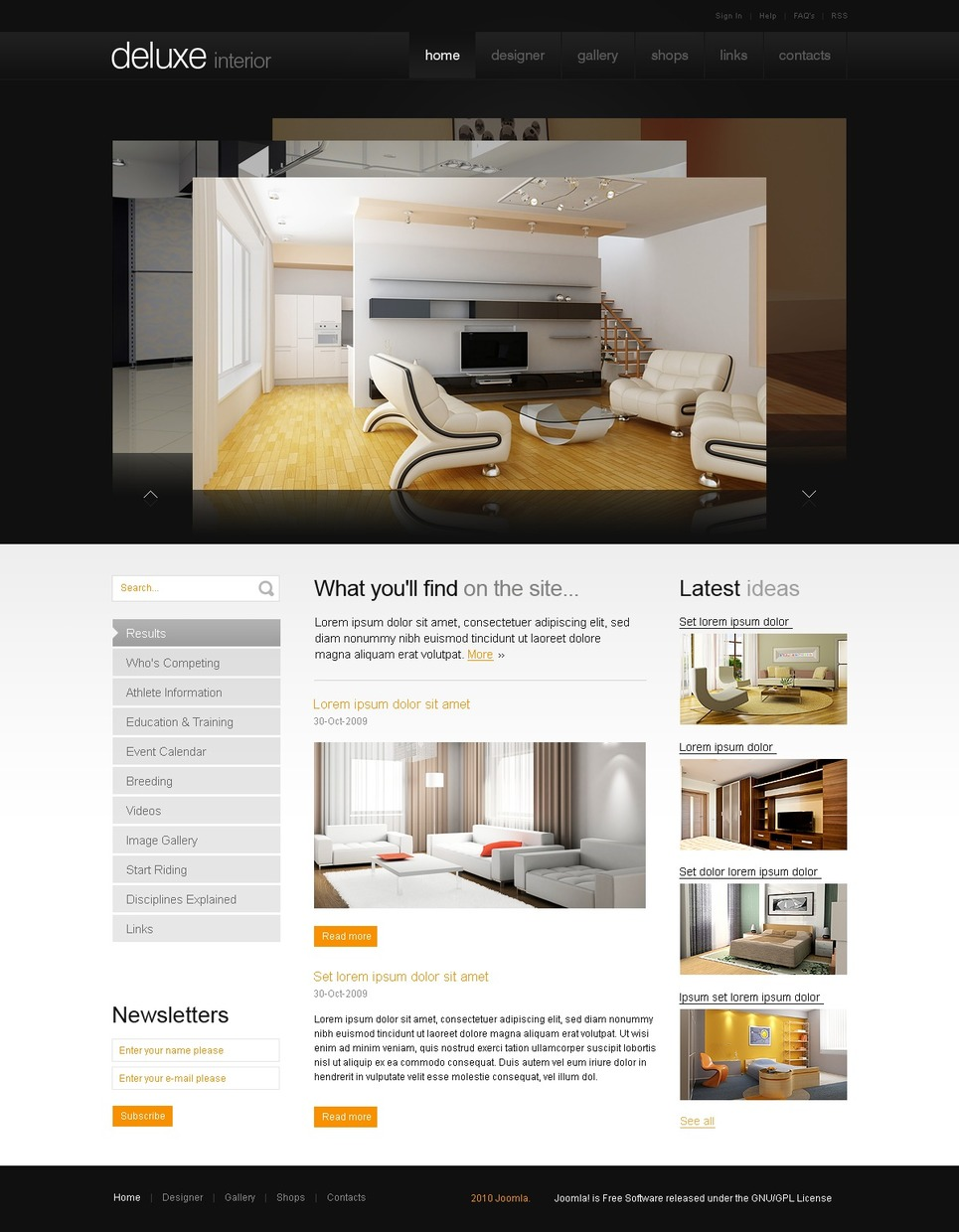 Interior Design Joomla Template Web Design Templates Website Templates Download Interior