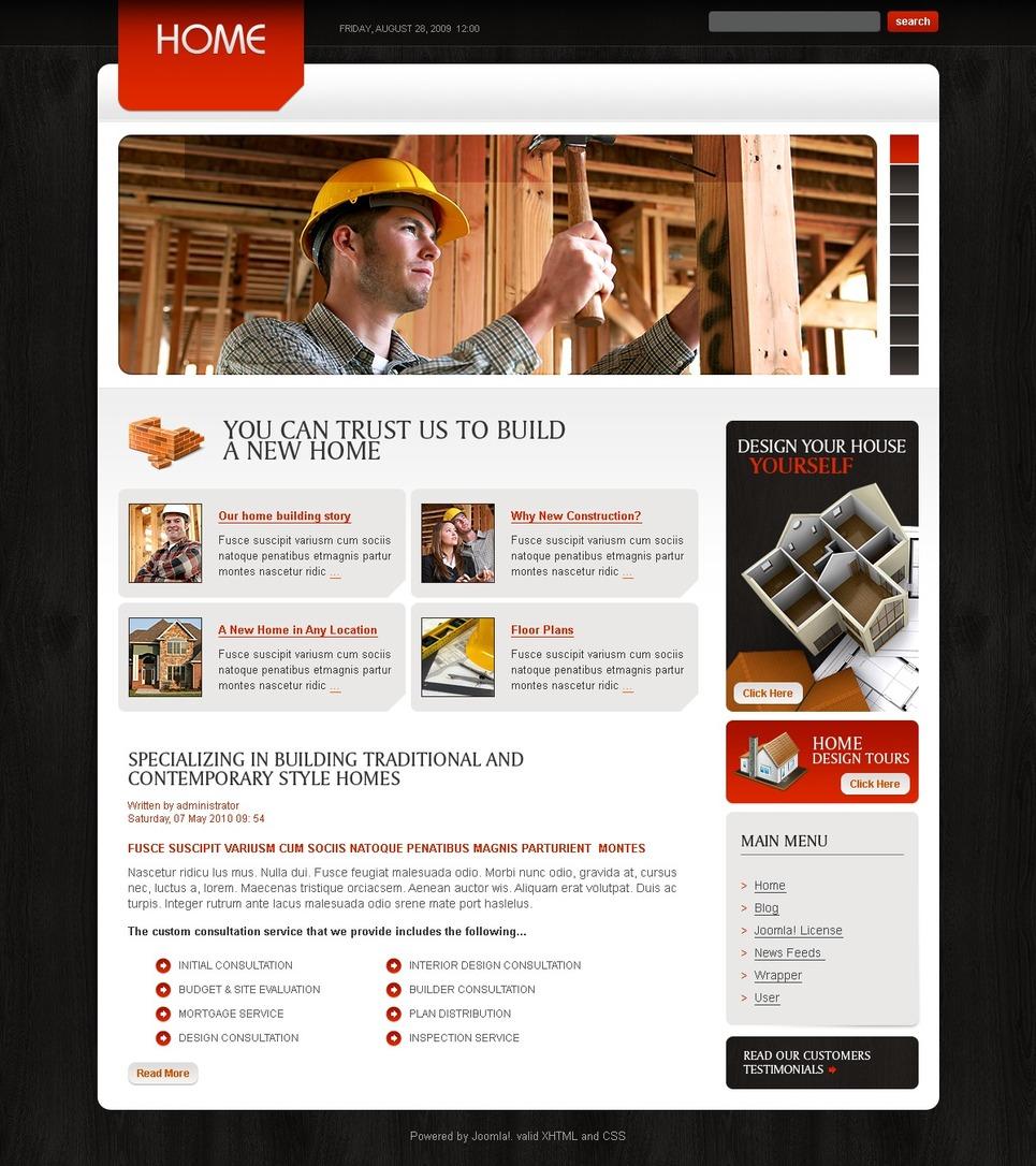 Construction Company Joomla Template New Screenshots BIG