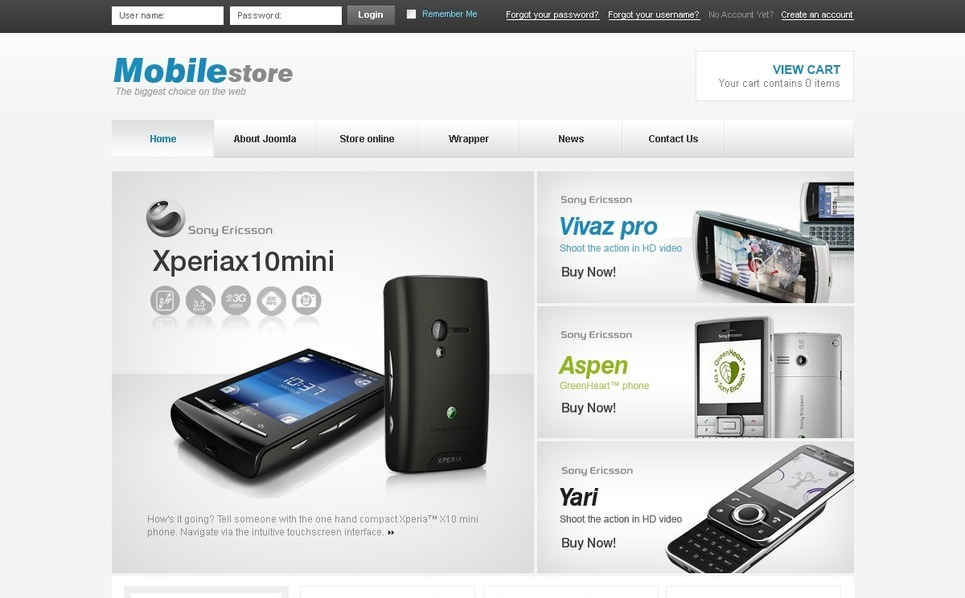 Mobile Store VirtueMart Template New Screenshots BIG