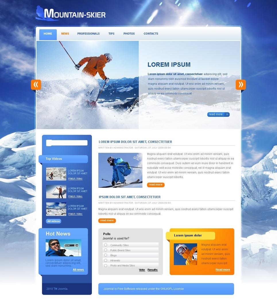 Skiing Joomla Template New Screenshots BIG