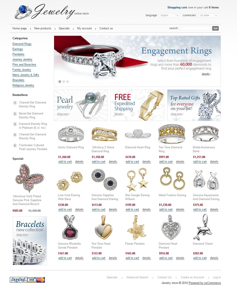 Elegant and Responsive Jewelry Stock