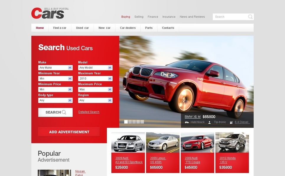Car Website Template New Screenshots BIG