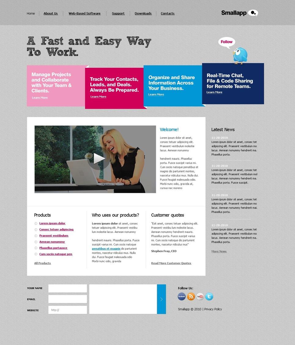 Software Company Website Template New Screenshots BIG