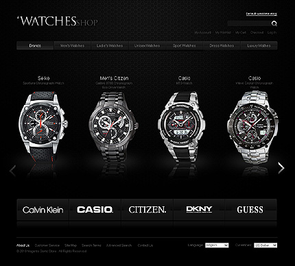 Watches - Delightful Watches Store Magento Theme