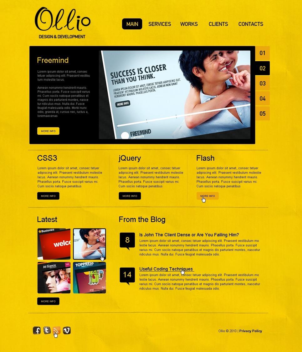 web development joomla template 28329. Black Bedroom Furniture Sets. Home Design Ideas