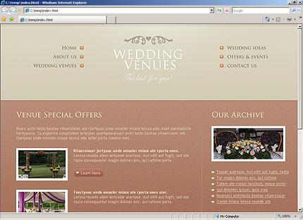 Website Templates Template 28416 wedding venues place venue event party