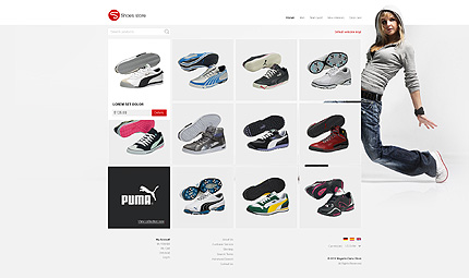 Shoe store - Stylish Footwear Store Magento Template