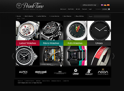 Prime time - Excellent Watches Store Magento Theme