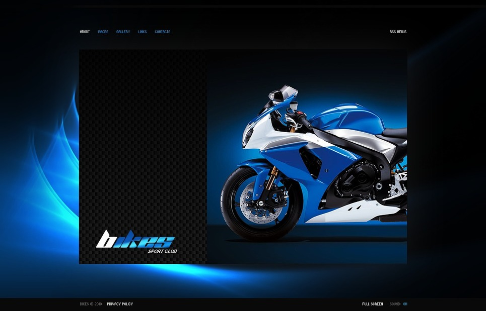 Motor Sports Flash Template New Screenshots BIG